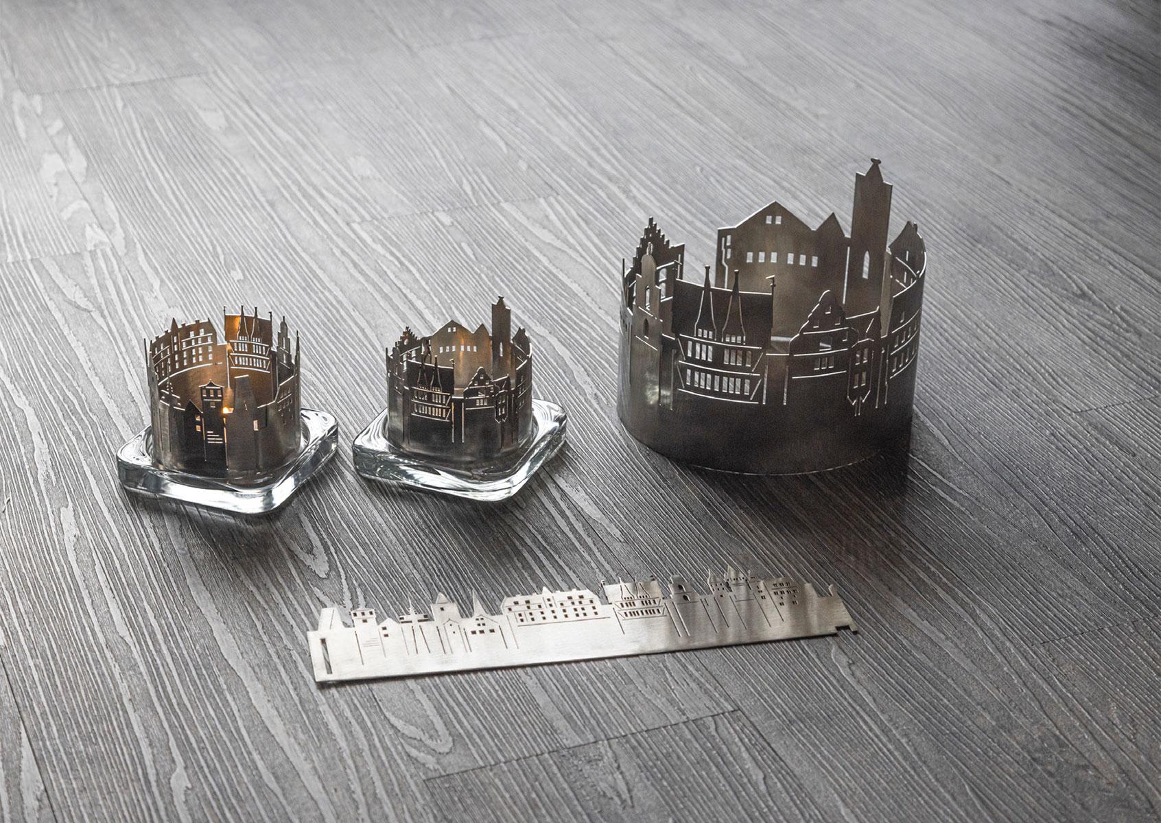 Teelichter mit Vogelsbergmotiven