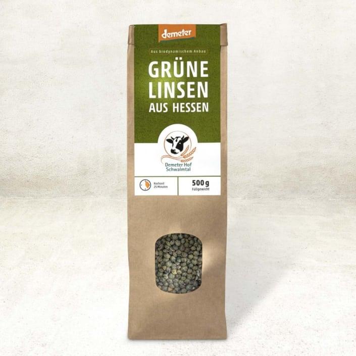 Grüne Bio-Linsen aus Hessen