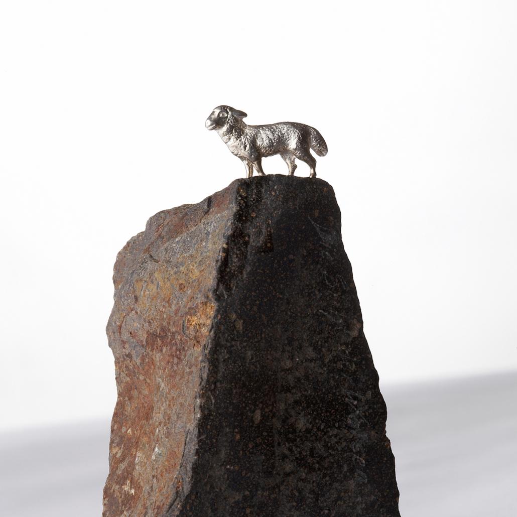 Tiere (Silber 925) auf Basalt