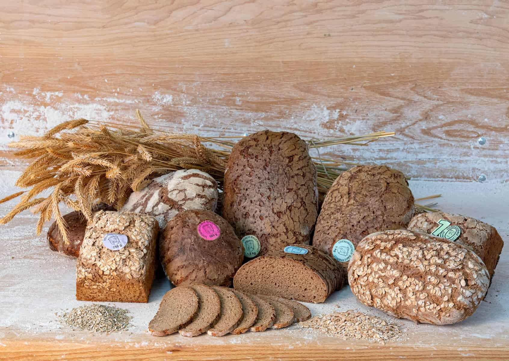 Ein Stillleben aus Broten