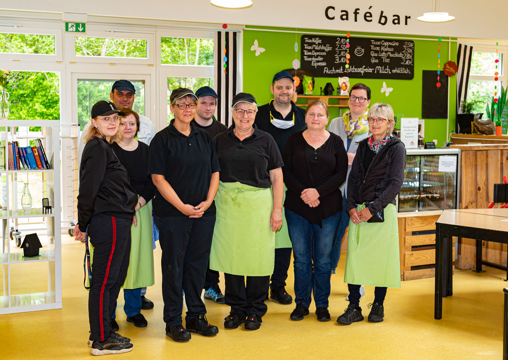 Das Team vom Café Restaurant Vogelpark