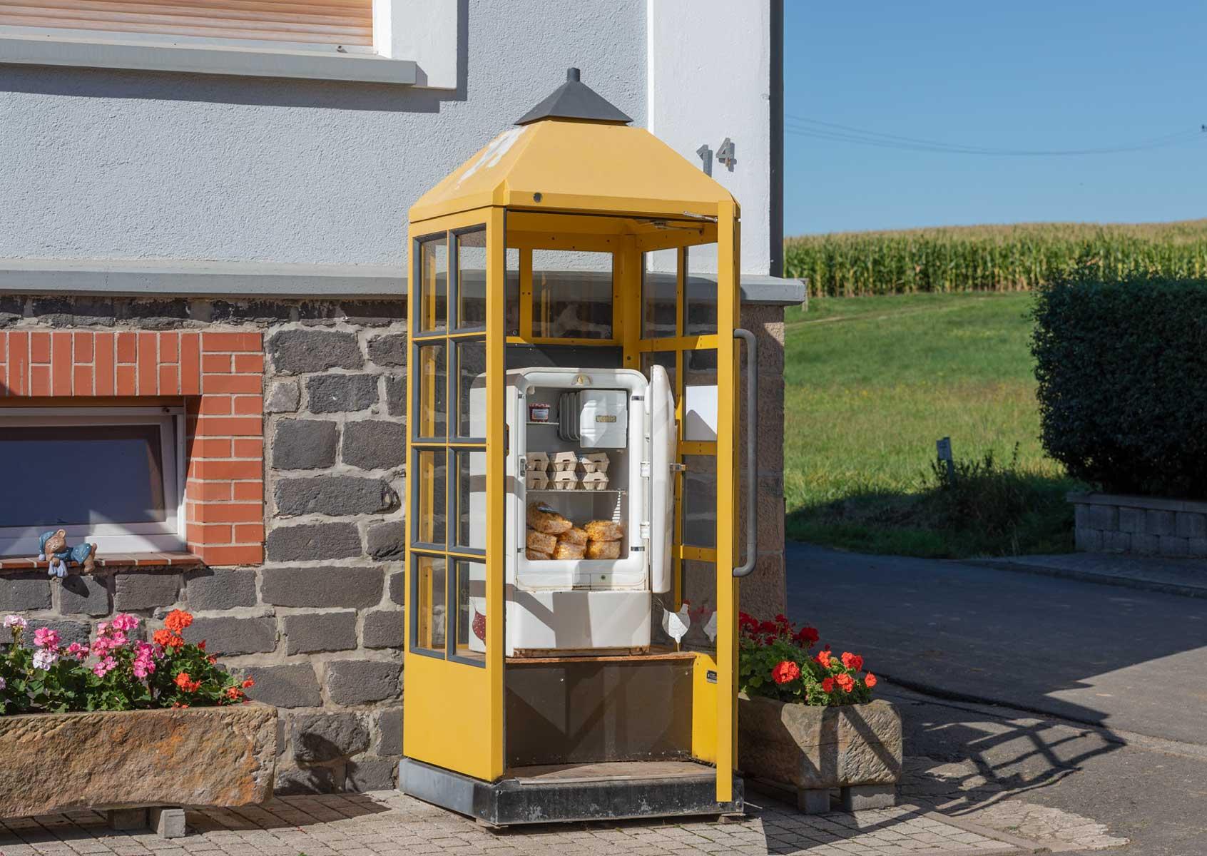 Telefonzelle = Verkaufsstelle